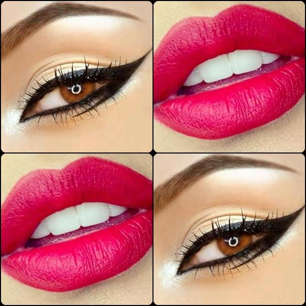 Stunning eye and lips makeup ideas for girls