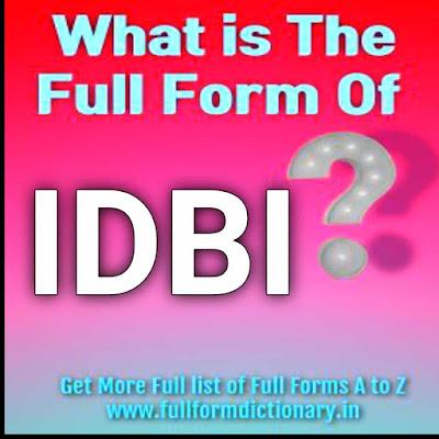 Full Form of IDBI