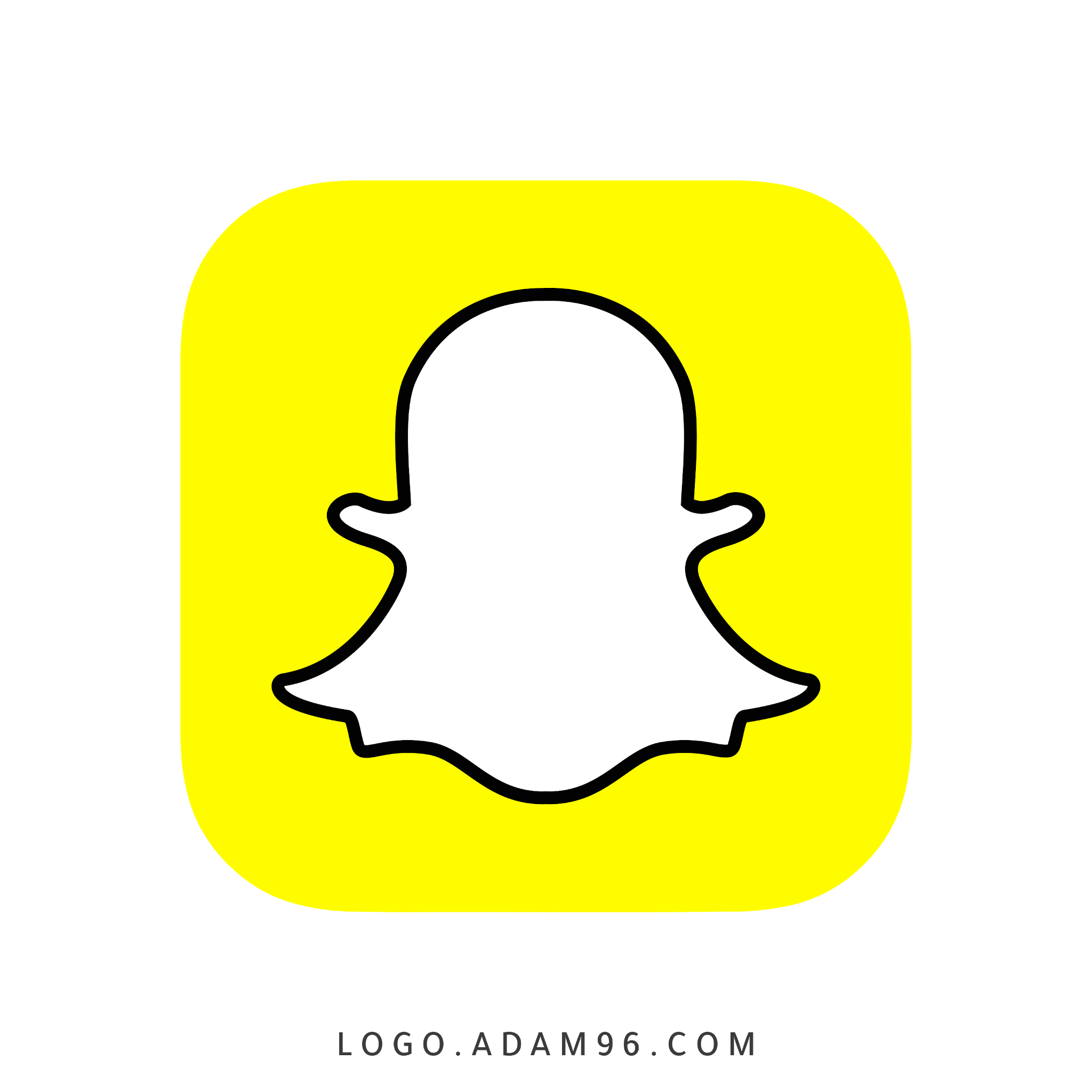 تحميل شعار سناب شات الرسمي لوجو بدقة عالية Logo Snapchat