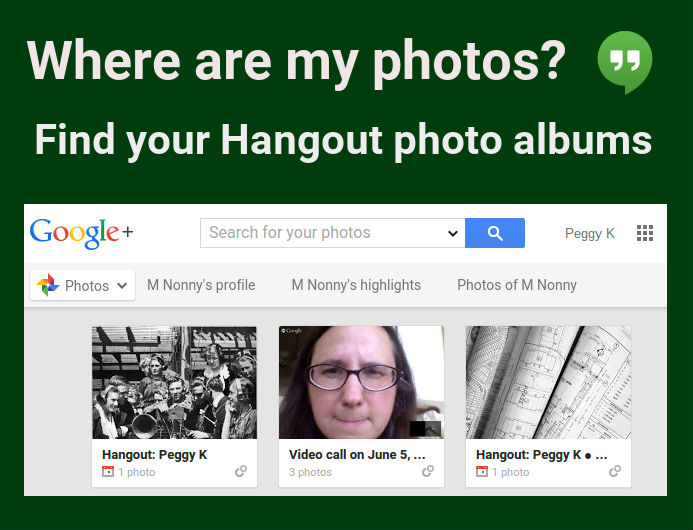 How to find your shared Hangout photo albums