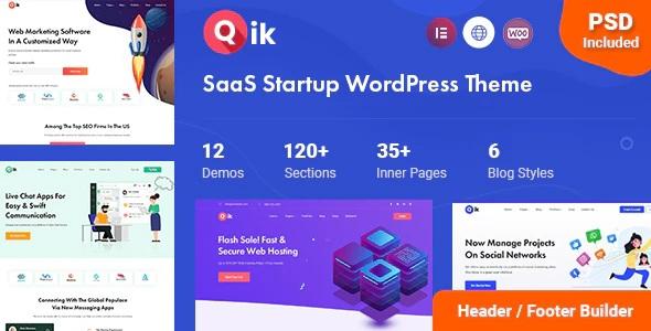 SaaS Startup WordPress Theme