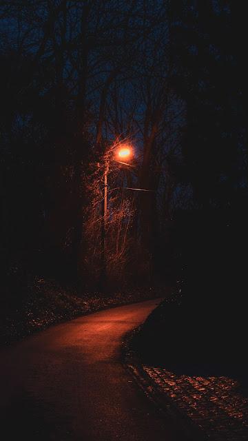 HD Wallpaper Night, Dark, Path, Lantern