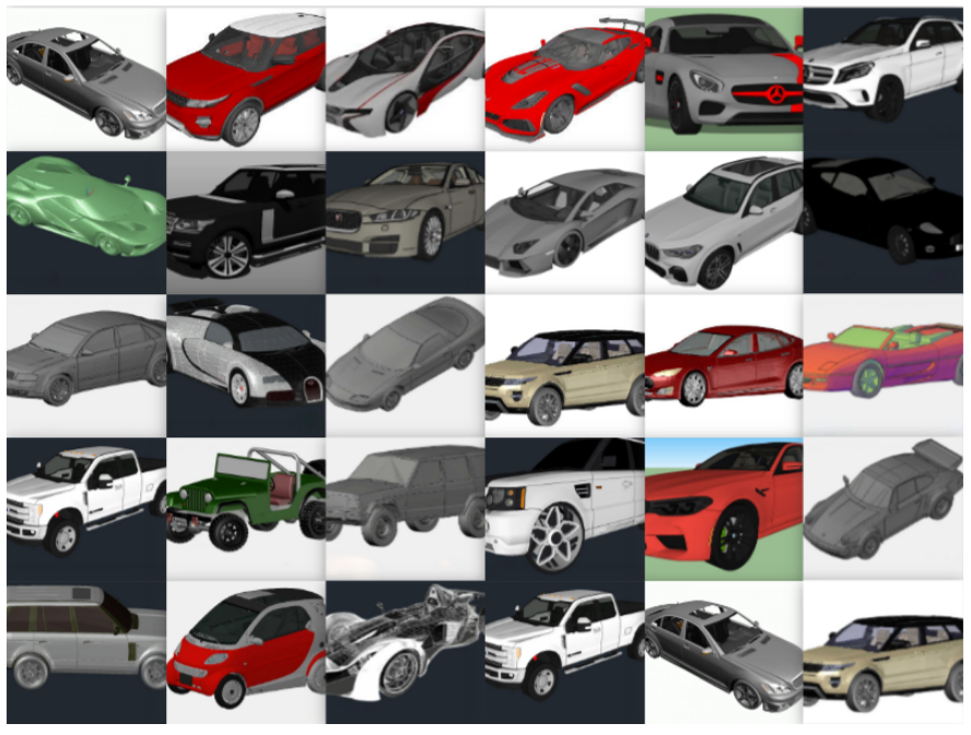 Variety Of 3D Cars [DWG]