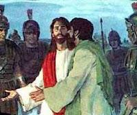 Judas Betrays Jesus - Courtesy www.clipart.christiansunite.com