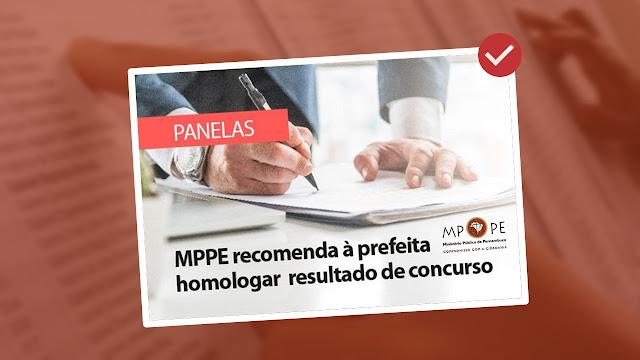 MPPE recomenda à prefeita homologar resultado de concurso público