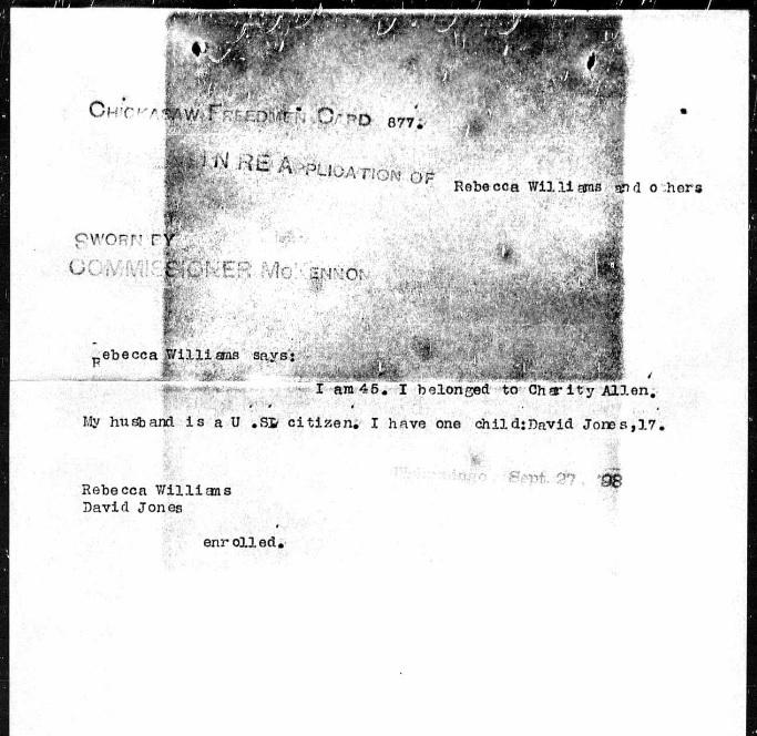 Choctaw Freedmen History & Legacy: The Saga of Rebecca