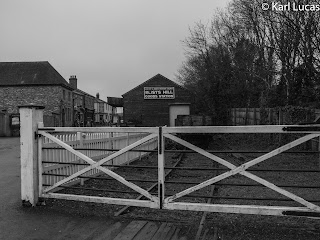 Industrial branch line level crossing Blists Hill