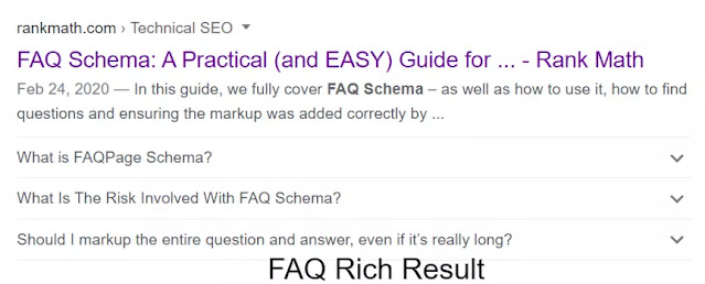 FAQ rich Result in Google search
