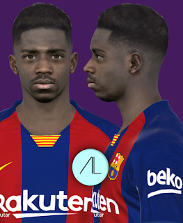 Face can be used for Pro Evolution Soccer  Update, PES 2017 Faces Ousmane Dembele by Alief