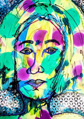 Abstract Art Portrait to Shop |  Artmiabo