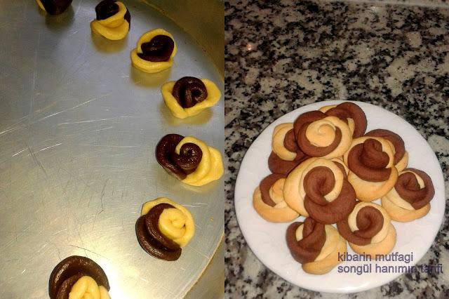 gül kurabiyesi farklı kurabiye şekilleri farklı kurabiye tarifi gül şekli nasıl yapılır  resimli anlatım gül kurabiyesi kolay ve pratik kurabiye tarifi gül şeklinde kurabiye kakaolu ve sade mozaik gül kurabiyesi