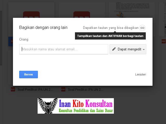 Cara Membuat Share Link Berbagi Link Untuk Google Drive Inan Kito