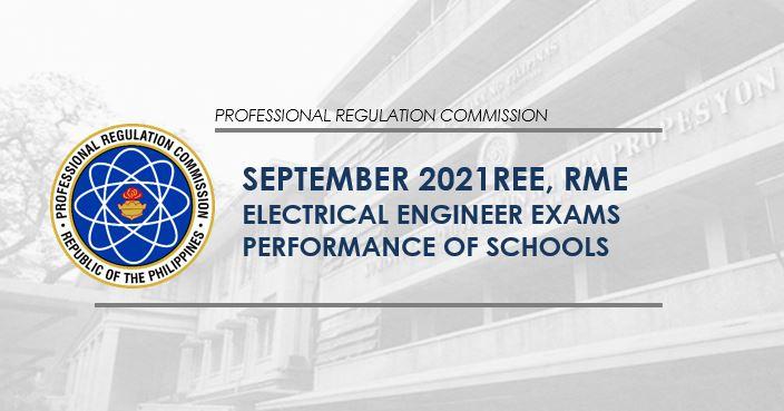 September 2021 Electrical Engineering REE, RME board exam result