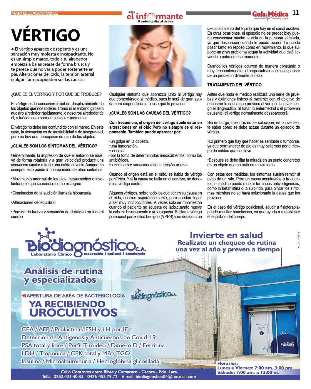 GUÍA MÉDICA EI INFORMANTE - Nº 10 17 - 08 - 2021