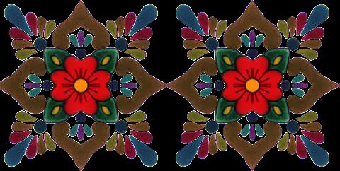 Vector flower art Border Design 2347