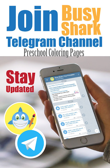 Busy shark free preschool coloring pages new telegram channel,stay updated and get notified of every new post