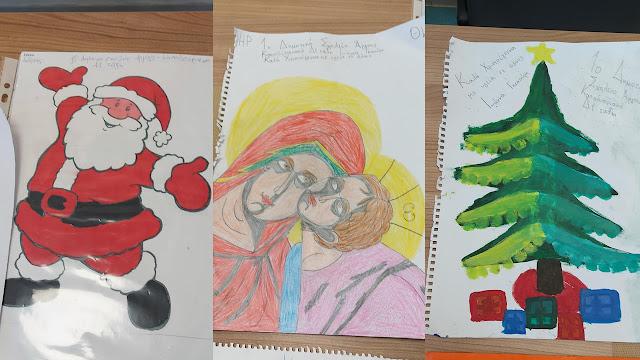 Εορταστικές ευχετήριες ζωγραφιές μαθητών στο Νοσοκομείο Αργολίδας
