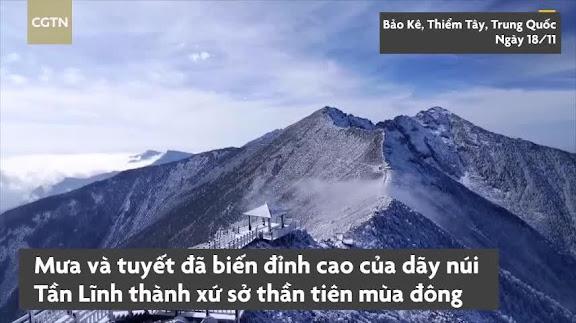 Cảnh sắc tựa xứ sở mùa đông ở đỉnh Thái Bạch