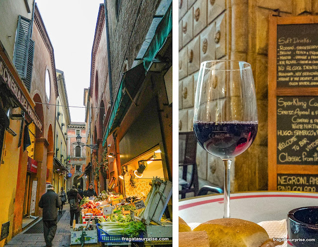 Comer em Bolonha, Itália
