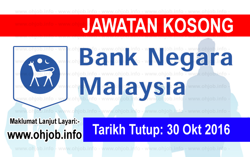 Jawatan Kerja Kosong Bank Negara Malaysia (BNM) logo www.ohjob.info oktober 2016