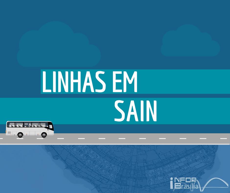 Horário de ônibus das linhas do SAIN