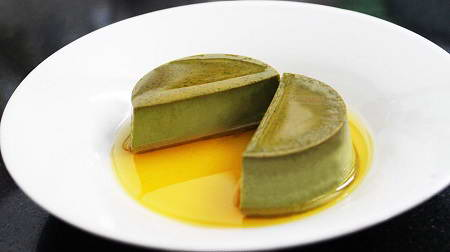 Bánh Flan trà xanh
