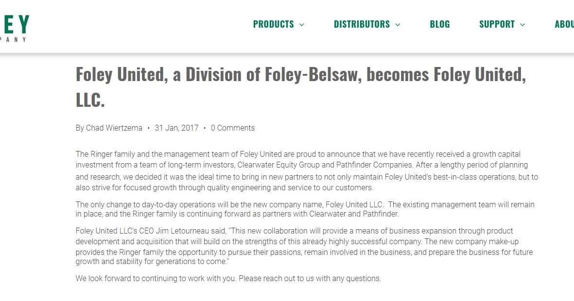 Foley Filer History Of Foley Belsaw