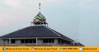 Pemasangan Kubah Enamel, Rajeng - Tangerang