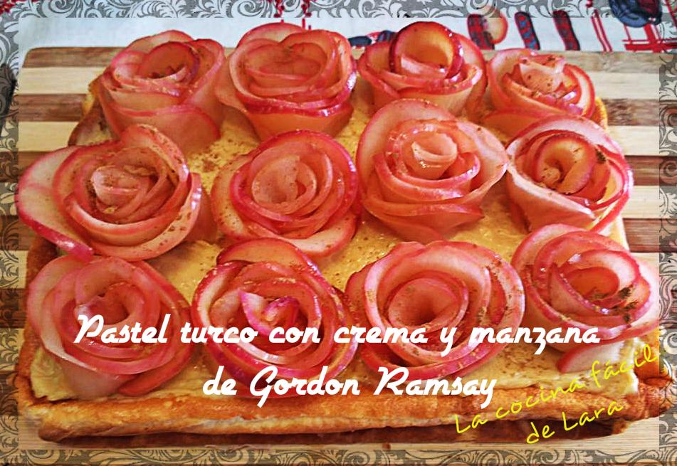 Pastel turco con crema y manzana de gordon ramsay la cocina facil de lara aprende a cocinar - A tavola con gordon ramsay ...
