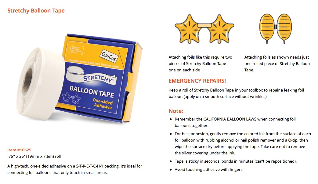 The Very Best Balloon Blog: A sticky situation   which glue