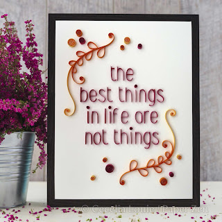 Quilling Phrases - Best Things Project