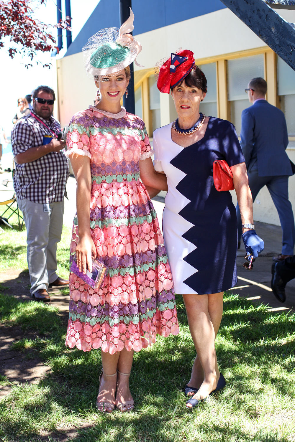 Georgina McKerrow at Ballarat Cup 2016 for the spring racing fashions on the field