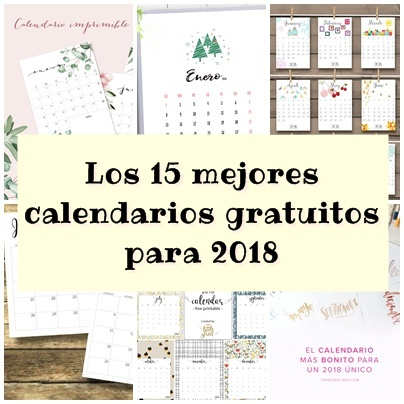 Los 15 mejores calendarios gratuitos para 2018 pica pecosa for Calendario de pared 2018