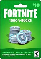 Tarjeta Fortnite de 1000 pavos