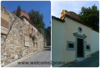 Confronto del Cupolino degli Ori, prima e dopo il restauro