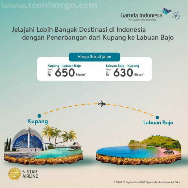 Garuda Indonesia Harga Spesial Tiket Kupang - Labuan Bajo Mulai Rp 650Ribuan