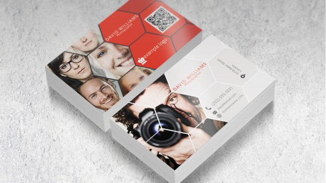 Photographer Business Card Mockup