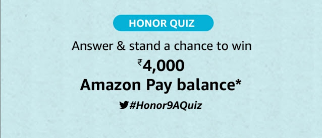 Amazon Honor 9 Quiz Answers