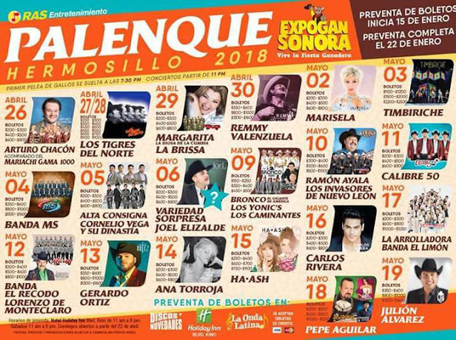 palenque expogan sonora 2018