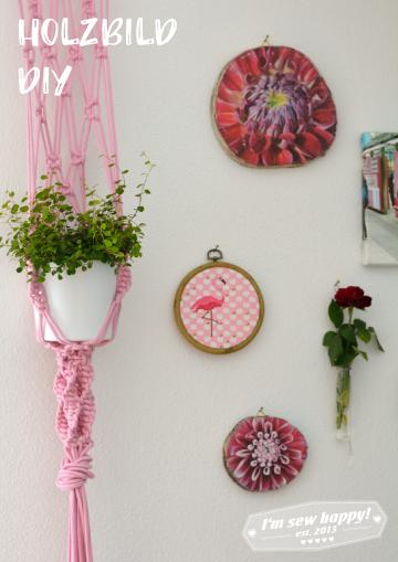 Blumenampel DIY, Holzbild