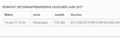 riwayat penarikan voucher vip.bitcoin.co.id hasil dari xrb
