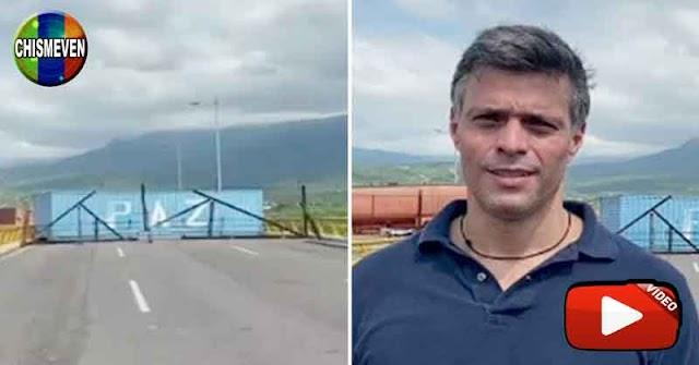 Leopoldo López en la frontera hablando sobre la entrada de Ayuda Humanitaria