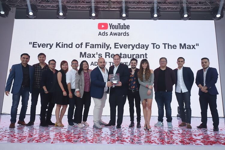 Max's Philippines Wins Big at YouTube Ads Awards Year 2
