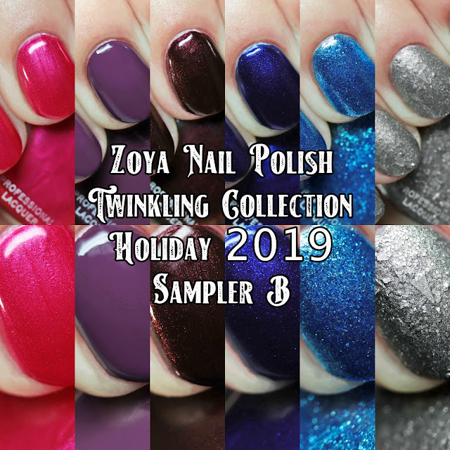 Zoya Nail Polish Twinkling Collection Holiday 2019 Sampler B
