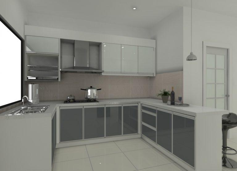 Kabinet Dapur Kaca Desainrumahid Com