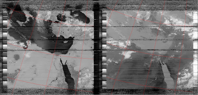 APT weather image reception from NOAA 19.