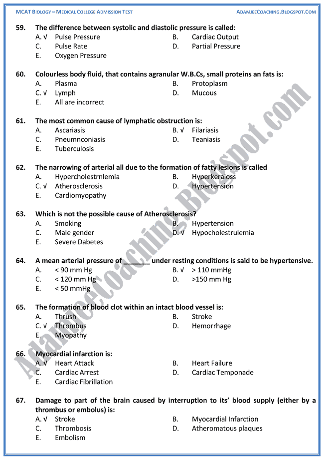mcat-biology-transport-mcqs-8 Jinnah Medical College Admission Form on form patient, decision making template, form for free, form template,