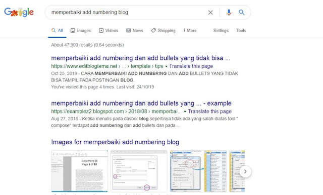 memperbaiki add numbering dan add bullets