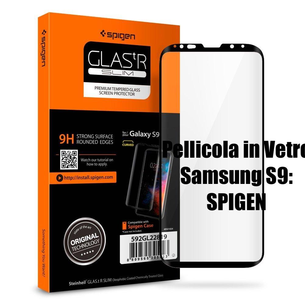 pellicola in vetro per s9 di spigen