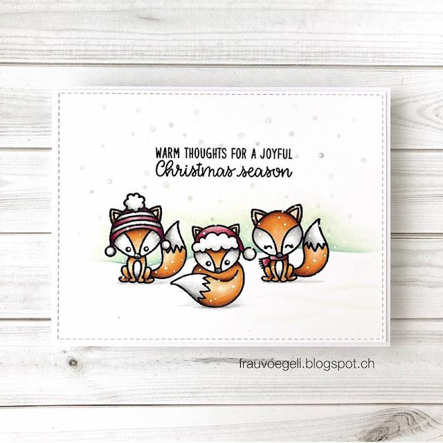 Sunny Studio Stamps: Foxy Christmas Customer Christmas Themed Card by Nicole